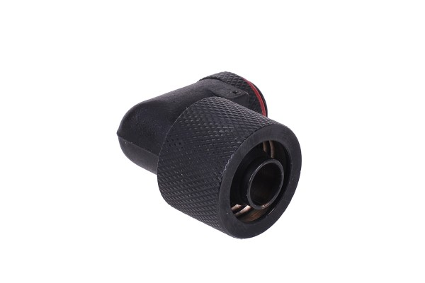 16/10mm compression fitting 90° revolvable G1/4 - knurled - matte black
