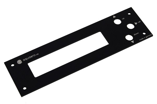 Aquacomputer faceplate for Aquaero 4.00 alu black