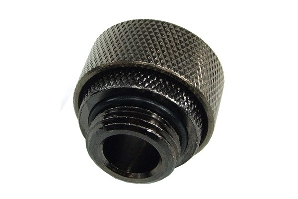 "19/13mm compression fitting straight G3/8"" black nickel plated"