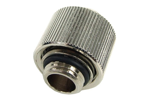 "16/11mm compression fitting straight G1/4"" - compact - silver nickel"