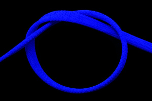 "Phobya Flex Sleeve 10mm (3/8"") UV blue 1m"