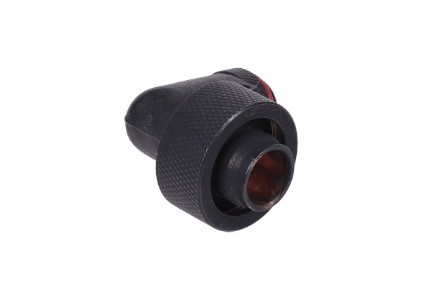 19/13mm compression fitting 90° revolvable G1/4 - knurled - matte black