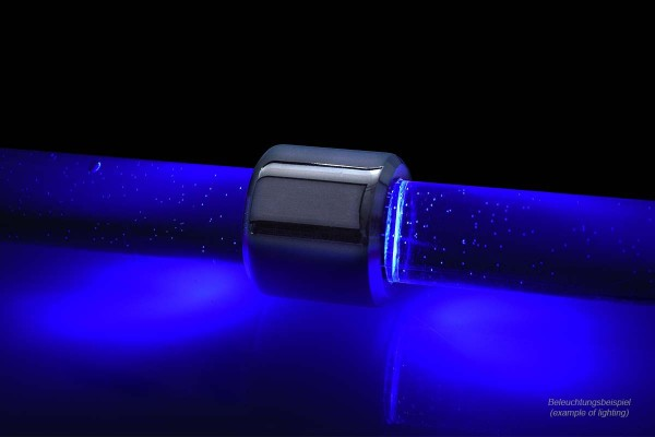 Alphacool Aurora HardTube LED ring 16mm chrome - blue