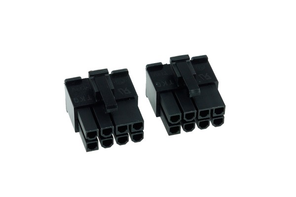 Phobya VGA Power Connector 8Pin male incl. 8 Pins - 2 pcs black