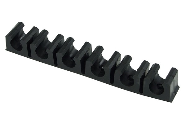 terminal strip black 11mm - 6 clips