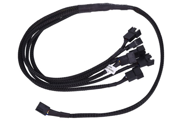 Phobya Y-cable 4Pin PWM to 6x 4Pin PWM 60cm - black