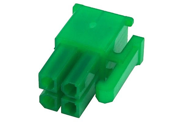 mod/smart ATX Power Connector 4Pin plug - UV-reactive green