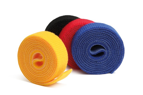 Label The Cable Hook and Loop Tape LTC ROLL STRAPS, 4x 1m, colored