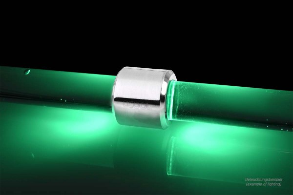 Alphacool Aurora HardTube LED ring 13mm chrome - green