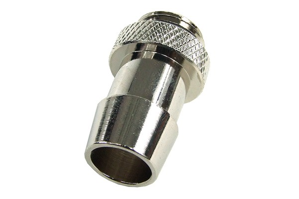 """13mm (1/2"""") fitting G1/4 with O-Ring (High-Flow) - short - silver"""
