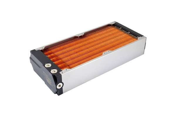 Aquacomputer airplex modularity system 280 mm, copper fins, one circuit, stainless steel side panels