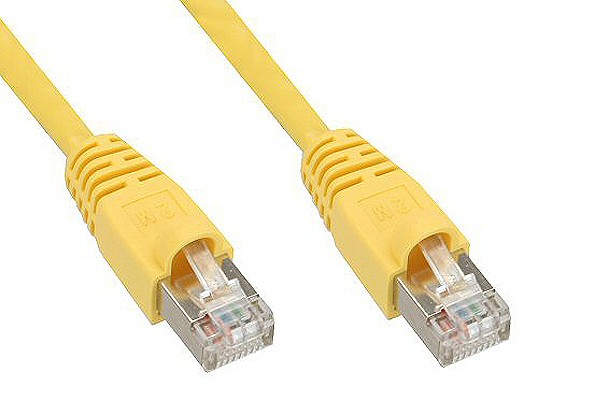 InLine® Patch cable, SF/UTP, Cat.6e, yellow, 0,25m