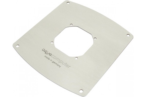 Aquacomputer mounting frame for filter with stainless steel mesh, 120 mm fan opening