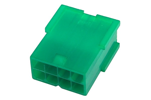 mod/smart VGA Power Connector 8Pin socket - UV-reactive green