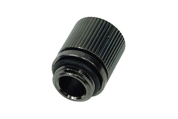 11/8mm (8x1,5mm) compression fitting outer thread 1/4 - compact - black nickel