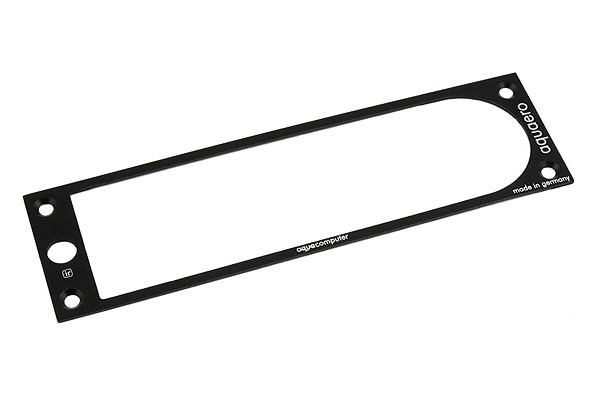 Aquacomputer faceplate for aquaero 5 XT alu black (old revision)