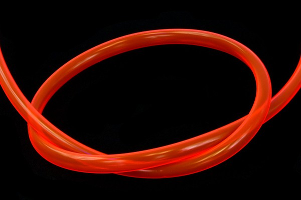 "tubing PVC 11/8mm (5/16""ID) UV-active red"