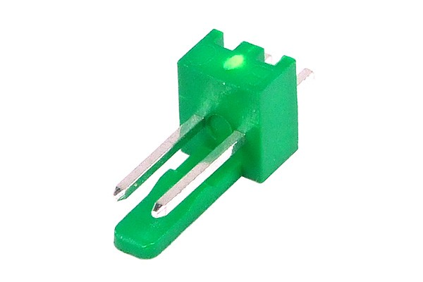 mod/smart Fan Power Connector 2Pin plug - UV-reactive green