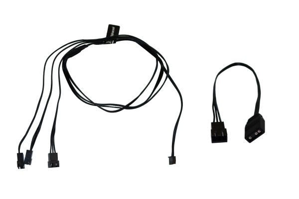 Alphacool Digital RGB LED y-cable 3-times with JST male connector 60cm - black