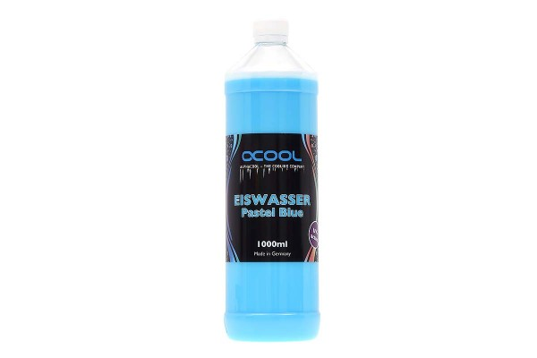 Alphacool Eiswasser Pastel Blue UV-active premixed coolant 1000ml