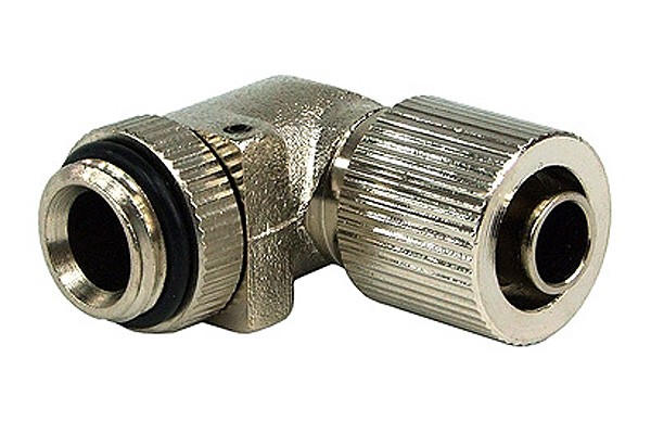 11/8mm (8x1,5mm) compression fitting G1/4 90° revolvable - compact - silver