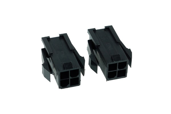 Phobya ATX Power Connector 4Pin female incl. 4 Pins - 2 pcs black