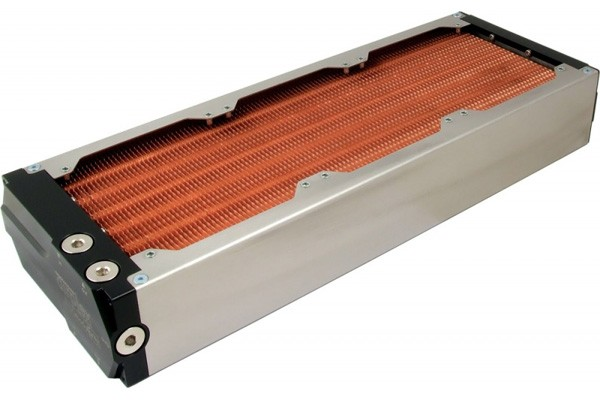 Aquacomputer airplex modularity system 360 mm, copper fins, one circuit, stainless steel side panels