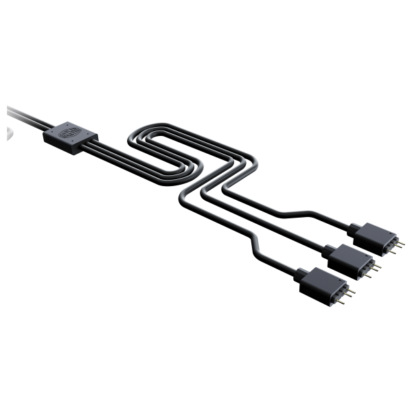 Cooler Master ARGB 3-way splitter cable - black