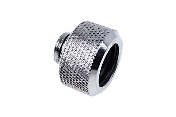 Alphacool Eiszapfen 16mm HardTube compression fitting G1/4 - knurled - chrome