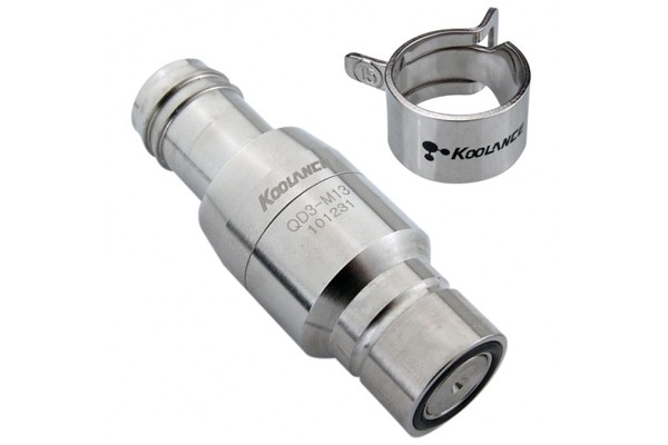 "Koolance quick release connector 13mm fitting (1/2"") male (High Flow) - QD3"