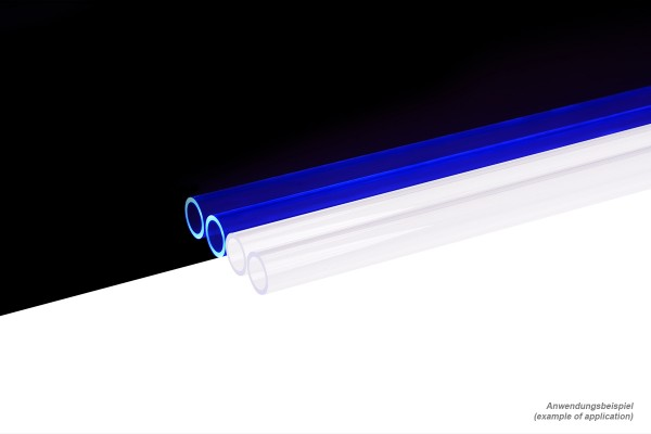 Alphacool HardTube 13/10mm Acryl clear UV-Blue 80cm - 4pcs