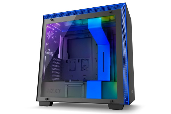 NZXT H700i Midi case - window black/blue