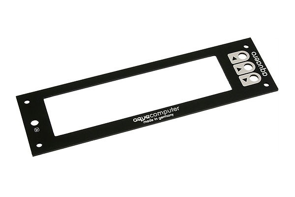 Aquacomputer faceplate for aquaero 5 and 6 PRO alu black