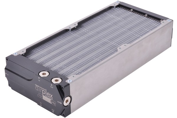 Aquacomputer airplex modularity system 280 mm, aluminum fins, one circuit, stainless steel side panels