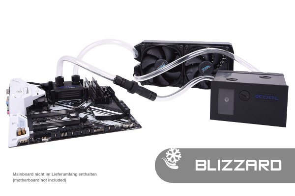 Alphacool Eissturm Blizzard Copper 45 2x120mm - complete kit
