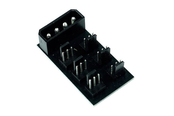 Phobya 4Pin Molex to 6x 3Pin Fan Splitter PCB