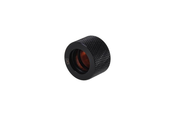 Alphacool HT 16mm HardTube compression fitting G1/4 - knurled - deep black