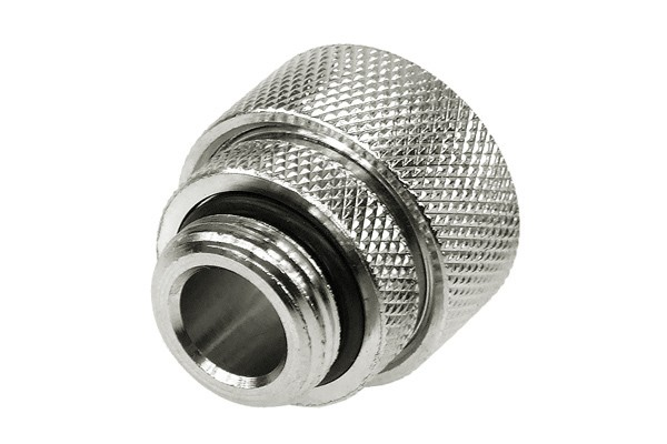 "19/13mm compression fitting straight G3/8"" silver nickel plated"