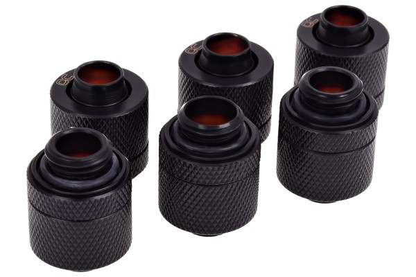 Alphacool HF 13/10 compression fitting G1/4 - deep black sixpack