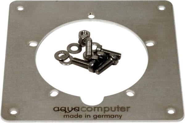 Aquacomputer faceplate stainless steel for Aquatubing