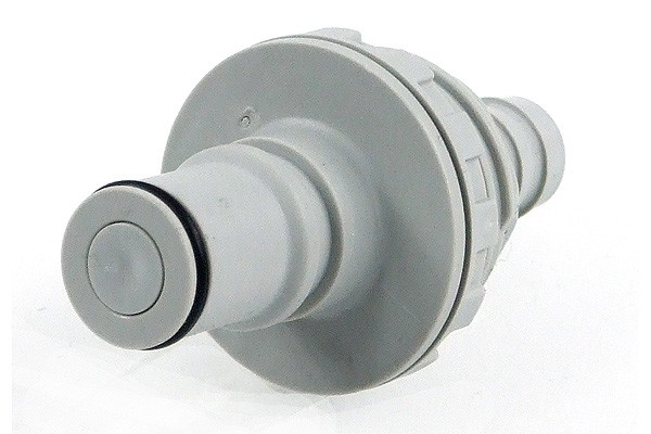 Quick release connector CPC 12,7mm plug with bulkhead thread