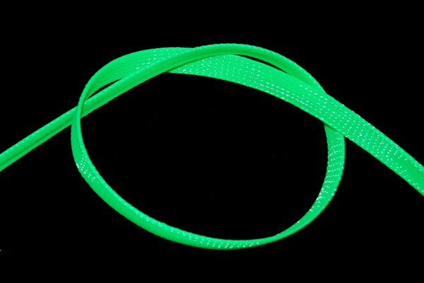 "Phobya Flex Sleeve 10mm (3/8"") UV green 1m"