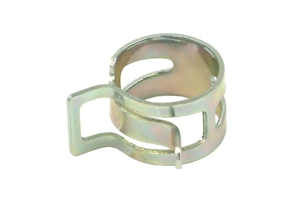Hose clamp spring steel 19-22mm silver