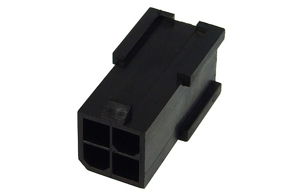 mod/smart ATX Power Connector 4Pin socket - black