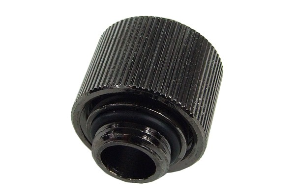"""16/11mm compression fitting straight G1/4"""" - compact - black nickel plated"""