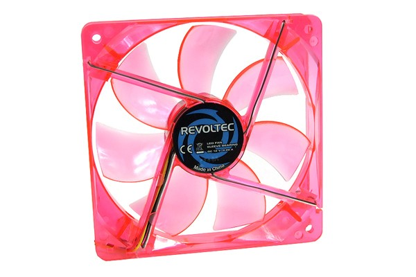 Revoltec fan - Dark Red -, 120x120x25mm with 4 red LEDs ( 120x120x25mm )